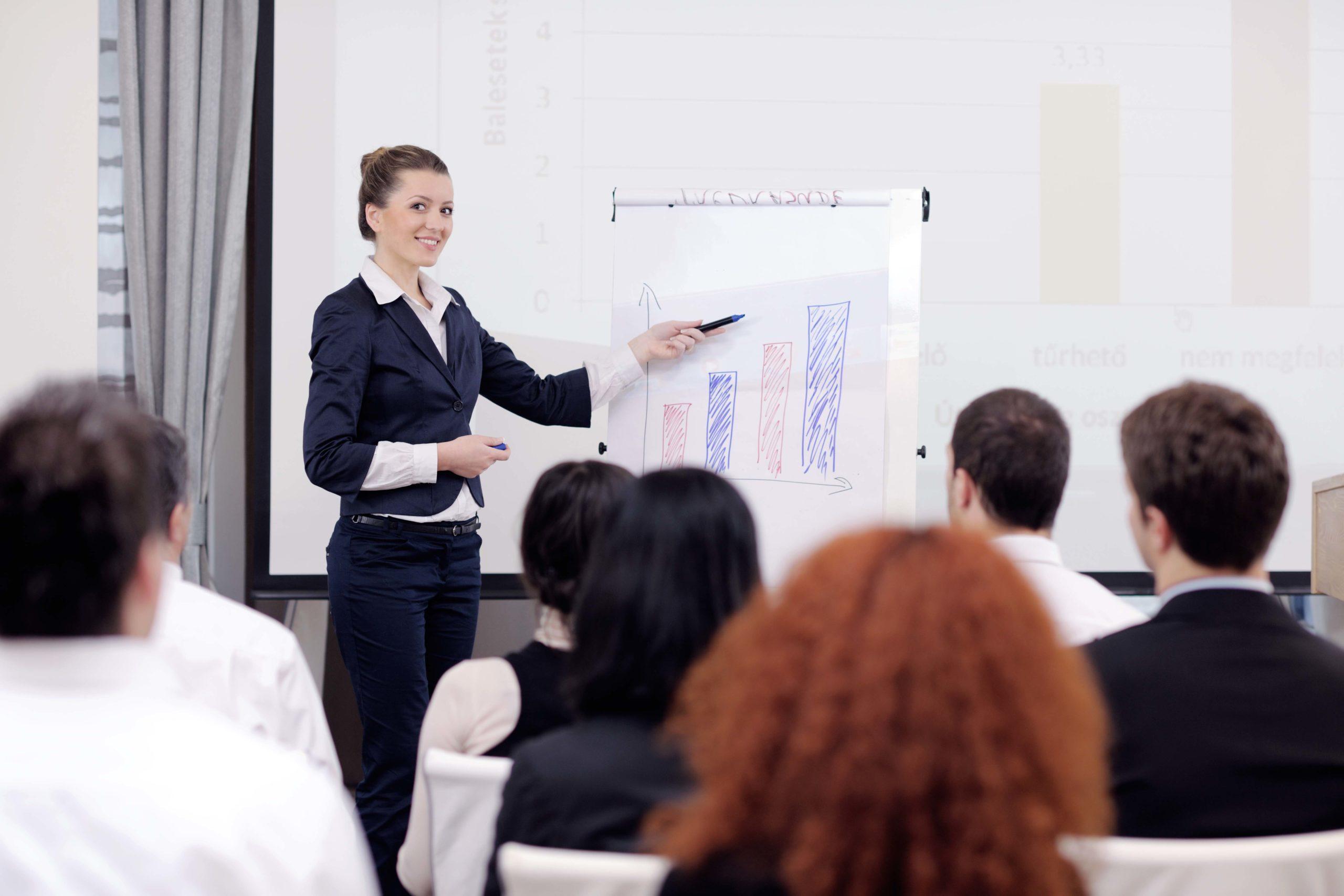 UofA Board Internship Program Workshop - Person Presenting Data to an Audience